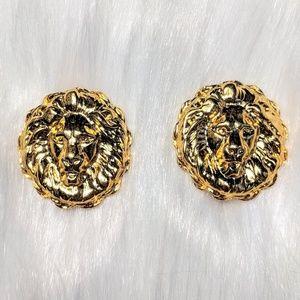 Jewelry - Lion Head Doorknocker Earrings